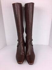 CIRCA JOAN and DAVID  Brown Leather 8 1/2 M CJNIFTY Women's Knee High Boots