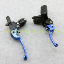 Blue Folding brake lever clutch Lever & front pump Fit ASV Motorcycle Dirt bike
