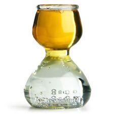 4 PLASTIC QUAFFER SHOT GLASS GLASSES DOUBLE BUBBLE SNORKEL JIGGER BOMB CUP