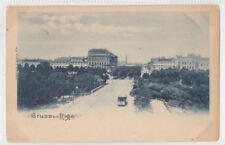 RIGA Street view Tramway early Imperial Russia Latvia Gruss aus Postcard tram