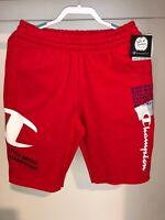 Champion Men's Super Fleece 3.0 Red Shorts NWT Size Medium