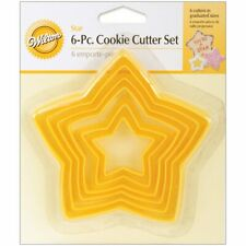 Wilton 6Pcs NESTING STAR Cookie Cutter Set Pastry Treats Baking Party Hobbycraft