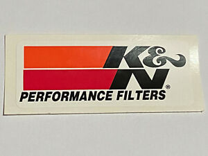 Sticker K & N Performance Filters 9cm x 4cm Ford Chev Dodge Holden Racing Decal