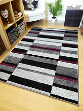 "Grey Brown Red Modern Style Soft Thick Runner Rug Small Extra Large Mat Cheap Blue Black Silver 120x170cm (4'x5'6"")"