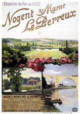 Affiche chemin de fer Est - Nogent-sur-Marne Le Perreux