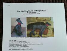 Lifesize Greyhound Knitting Pattern / Toy / Model
