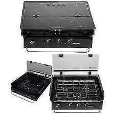 *SUBURBAN 3085-A BIFOLD HINGE GLASS COVER RANGE SLIDE-IN RV COOKTOP OVEN