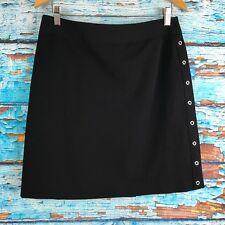 Apostrophe Womens Black Skirt 10P Petite Pencil