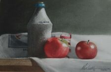 MICHAEL WEBER SIGNED ORIGINAL WATERCOLOR PAINTING OF STILL LIFE