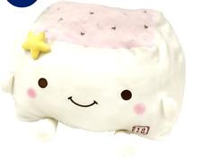 Tofu Cushion Hannari  Star Series Pink Stuffed Toy Cushion Size M Japan Gift