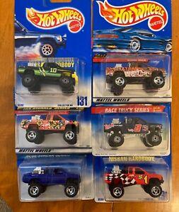 Hot Wheels Nissan Hardbody Pickup Truck Blue Cards + 90's Series  Lot of 6 New