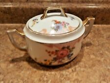Epiag Czechoslovakia Bridal Rose Floral Fine China ~ Sugar Bowl with Lid