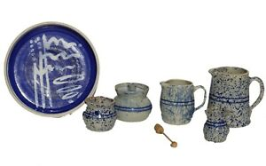 Jerry Brown Hamilton Alabama 4 Piece Pottery Stoneware Vintage 1989 1 Kenji