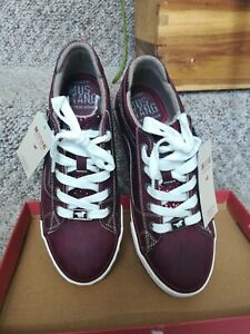 Shoes Mustang women 39 UK6 low sneakers ecco red burgundy