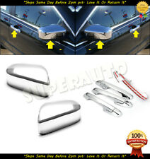 FOR 2003-2007 HONDA ACCORD SEDAN CHROME MIRROR + 4DR HANDLE COVERS COMBO DEAL