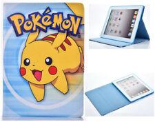 Para Apple iPad 2 3 4 gran Pokemon ir Pikachu Diversión Niños Caricatura De pie Estuche Cubierta