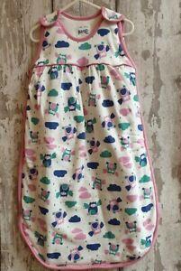 Baby Girl 100% Organic Cotton Owl Sleeping Bag / Growbag / Grobag.