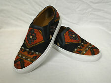 100% Auth GIVENCHY Persian Rug Carpet Plaid Wool Skate Shoes Sneakers 40.5 / 7.5
