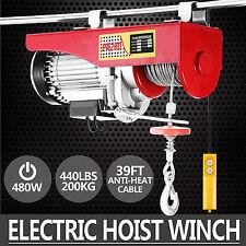 200KG Seilzug Hebezug elektrische Seilwinde Haltewinkel Kabel Kran Fernbedienung