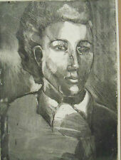 """PORTRAIT OF WOMAN"" by Ruth Freeman ETCHING 9"" X 12 1/4"""
