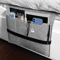 Hanging Felt Bedside Storage Bag Pocket Bedside Caddy Sofa Organizer