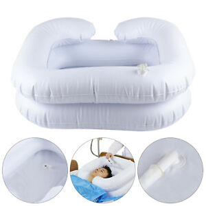 Inflatable Portable Basin Sink Hair Washing Aids in Bed Travel indoor UK