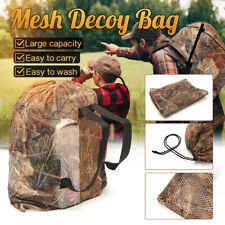 Mesh Decoy Bag Shoulder Bird Hunting Hunter Mesh Duck Goose Storage Backpack