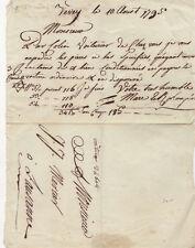 Französische Handschrift 1795 Savoy Lausanne Schweiz Davidstern? Pentagramm?