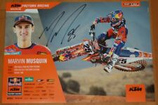 2018 Marvin Musquin signed Red Bull KTM 450 SX-F Supercross Motocross Poster