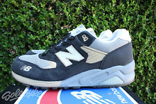 NEW BALANCE 580 SZ 11 WHITE ANTHRACITE BURN RUBBER WHITE COLLAR MT580WC