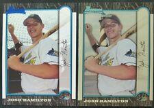 1999 Bowman  Josh Hamilton 2 Card Lot**BASE & INTERNATIONAL ROOKIES**FREE SHIP*