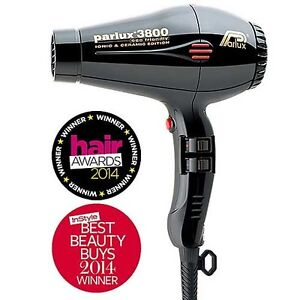 Hot Parlux 3800 Ceramic Ionic Eco Friendly Hair Dryer With 2 Nozzles AU Plug