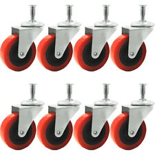 """8 Pack Heavy-Duty 2"""" Swivel Caster for Creeper Service Cart Stool Post Mount"""