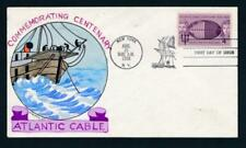 U.S. 1112 Wm. Wright hand painted FDC, Atlantic Cable, Ship