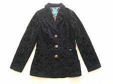 Christian Lacroix noir Velours Blazer Veste Style W une Doublure contrastée Très bon état UK 14