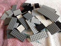 LEGO Job Lot x 40 Base Plates Mixed Sizes,- Lego Bundle Star Wars Colours - Used