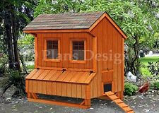 5' x 6' Chicken Coop Plans, Saltbox Style Design #E90506S, Special Price $13.95
