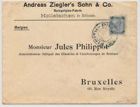 ÖSTERREICH 1904 50h AUSLANDSBRIEF, PRAG nach BRUXELLES.