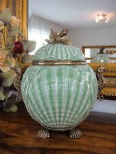 Deckelvase Porzellan Bronze Prunkvase Urne Antik Barock Pokal Vase Luxus Dose