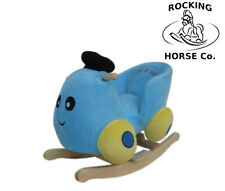 NEW Plush BLUE CAR Childs Rocker Rocking Chair  with Sound Effects - 1 Year +