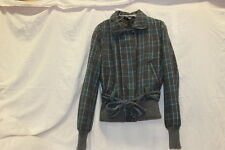 Guess Womens Short Bodied Pea Coat Size Medium Grey Blue Excellent Used 0196
