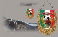 MEXICO SOCCER FLAG CAR MINI BANNER, PENNANT