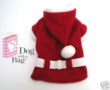 Santa Claus Christmas Coat Yorkie Chihuahua Dog Clothes Costumes Gift Large