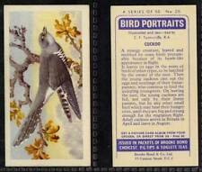 Brooke Bond, Bird Portraits, with address 1957 VG (any from 26-50 list)