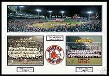 Boston Red Sox Fenway Park 1918 and WS 2004 Team Photo