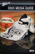 2005 San Antonio Silver Wnba Basketball Media Guide