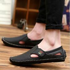 Mens Big Size casual Genuine Leather Sandals Closed Toe Fisherman Beach Shoes