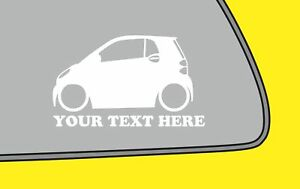 2x LOW YOUR TEXTered Smart two w451 2nd gen fukn low sticker smart car decal 372