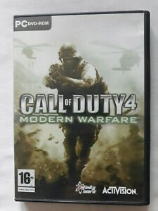 Call Of Duty 4 Modern Warfare PC game ACTIVISION complete FREE SHIPPING