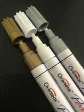 PERMANENT METAL PAINT PEN OIL BASED MARKER WATERPROOF Gold,  Silver or White
